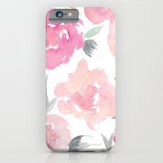 Muted Floral Watercolor Design  iPhone 6 Slim Case