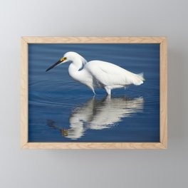 Bird series: Snowy Egret Framed Mini Art Print