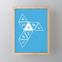 Blue Unrolled D8 Framed Mini Art Print