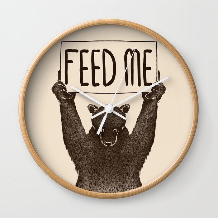 Feed Me Bear Wall Clock