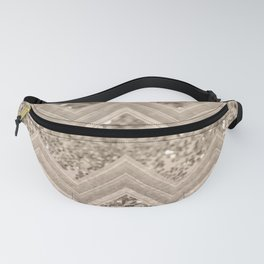Sepia Glitter Chevron #1 #shiny #decor #art #society6 Fanny Pack