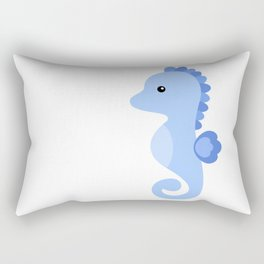Seahorse cute vector illustration Rectangular Pillow