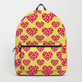 Red and Yellow Hearts Seamless Pattern 041#001 Backpack