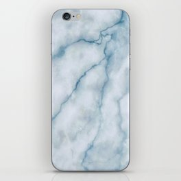 Light blue marble texture iPhone Skin