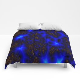 Blue Lightning Abstract Comforters