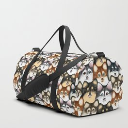 Pomsky Pattern Duffle Bag