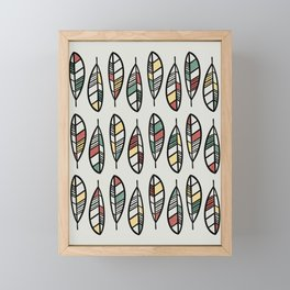 Campfire inspired feather pattern Framed Mini Art Print