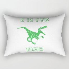 Origami Dino Rectangular Pillow
