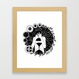 """Inktober, Day 14 """"Clock"""" #inktober #inktober2018 Framed Art Print"""