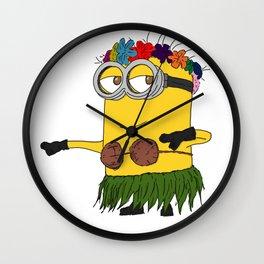 Hawaii Minion  Wall Clock