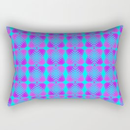 Blue diamonds of purple stars on the hearts of heaven in a bright intersection. Rectangular Pillow
