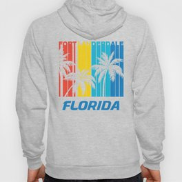 Retro Fort Lauderdale Florida Palm Trees Vacation Hoody