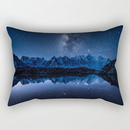 Night mountains Rectangular Pillow
