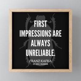 37  |  Franz Kafka Quotes | 190517 Framed Mini Art Print