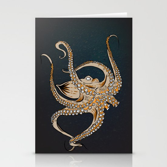 Embrace Of The Octopus Stationery Cards