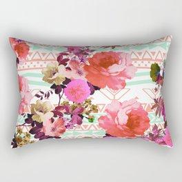 Flower in the Tribe Rectangular Pillow