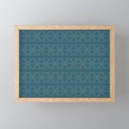 lines geo-teal mural 12' x 8' Framed Mini Art Print