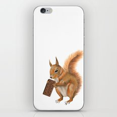 Super squirrel. iPhone & iPod Skin