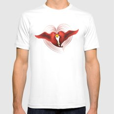 HeartBirds Mens Fitted Tee MEDIUM White