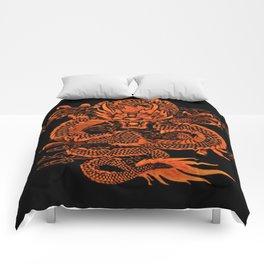 Epic Dragon Orange Comforters
