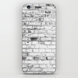 Withe brick wall iPhone Skin