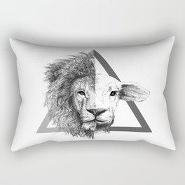 Lion and Lamb Rectangular Pillow
