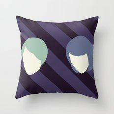 Tegan and Sarah Throw Pillow