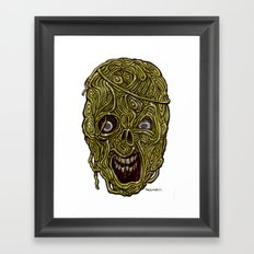 Heads of the Living Dead Zombies: Eddie Spagetti  Zombie Framed Art Print