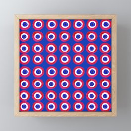 Donut Evil Eye Amulet Talisman - red on blue doughnut Framed Mini Art Print