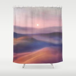 Minimal abstract landscape II Shower Curtain
