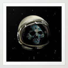 Holy Starman Skull II Art Print