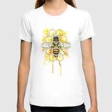 Hive Mentality White MEDIUM Womens Fitted Tee