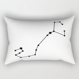 Scorpio Star Sign Black & White Rectangular Pillow