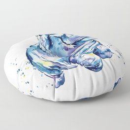 Hippo Colorful Watercolor Hippo Painting - Grace Floor Pillow