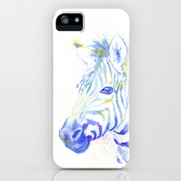 Quiet Zebra iPhone Case