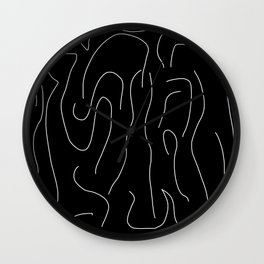 Bright White on Pitch Black Wall Clock