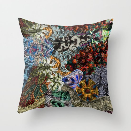 Psychedelic Botanical 15 Throw Pillow