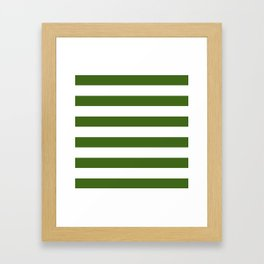 Simply Stripes in Jungle Green Framed Art Print