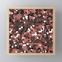 Salmon Polycamo Framed Mini Art Print