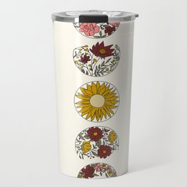 Floral Phases of the Moon Travel Mug