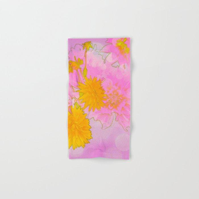 Pink & Gold Floral Hand & Bath Towel