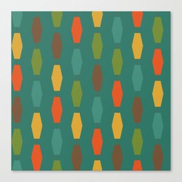 Colima - Teal Canvas Print