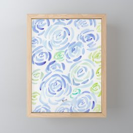 1  |  190411 Flower Abstract Watercolour Painting Framed Mini Art Print