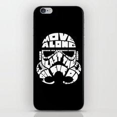 Stormtrooper in typography iPhone & iPod Skin