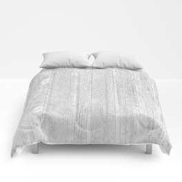 Whitewashed wood Comforters