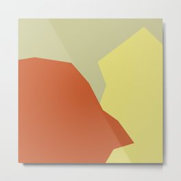 Minimalism Abstract Colors #4 Metal Print