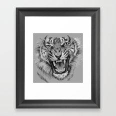 Tiger Portrait Animal Design Framed Art Print