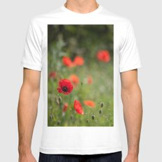 Field of poppies Mens Fitted Tee White MEDIUM