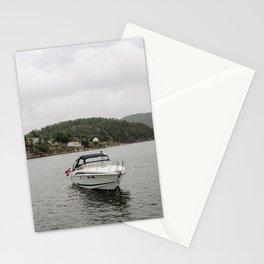 liten båt Stationery Cards