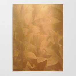 Brushed Copper Metallic - Beautiful - Rustic Glam - Fancy Faux Finishes - Metallic Paint Poster